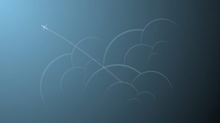 picture, plane, clouds