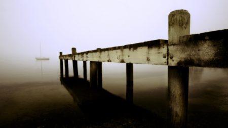 pier, boards, sea