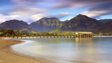 pier, canopy, sea