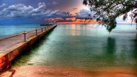 pier, mooring, bridge