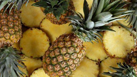 pineapples, fruit, segments