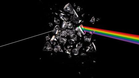 pink floyd, debris, rainbow