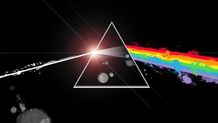 pink floyd, light, triangle