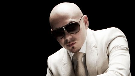 pitbull, glasses, suit