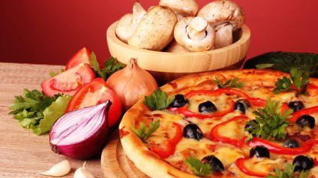 pizza, cheese, paprika