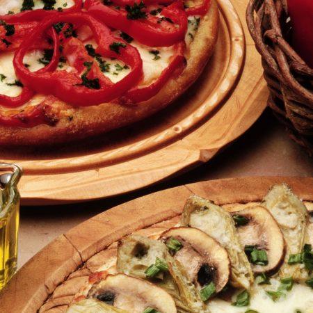 pizza, mushrooms, pepper