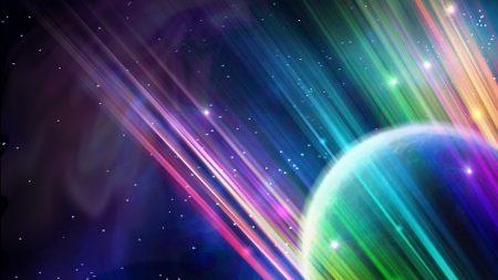 planet, ball, light