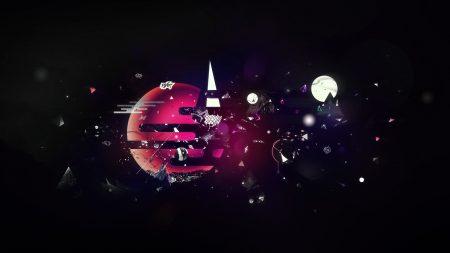 planet, fragmentation, sky
