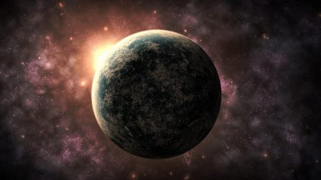 planet, nebula, light