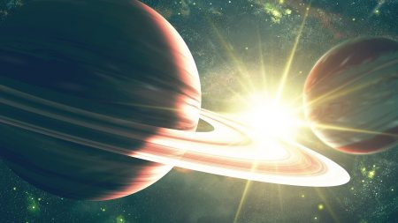 planet, ring, space