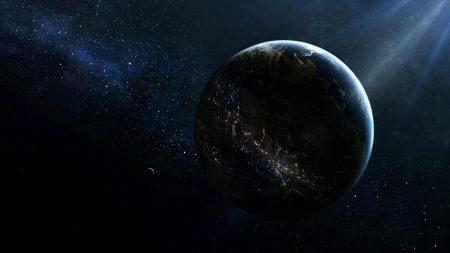 planet, satellite, lighting