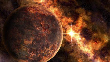 planet, stars, luminescence