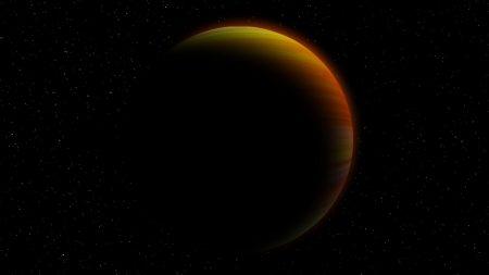 planet, universe, shadow