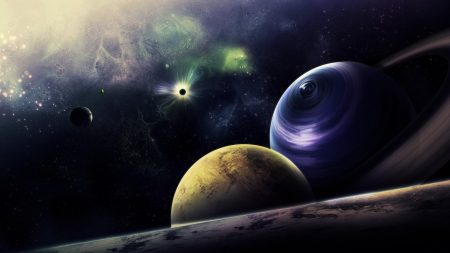 planets, circle, flash