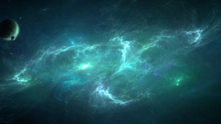 planets, nebula, light