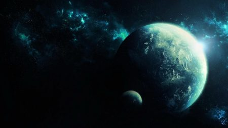 planets, space, nebula