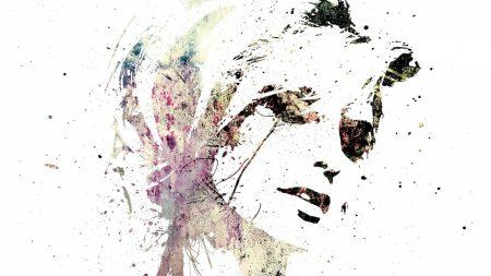 portrait, girl, spray