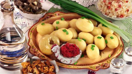 potato, russian cuisine, decanter