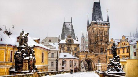 prague, czech republic, winter