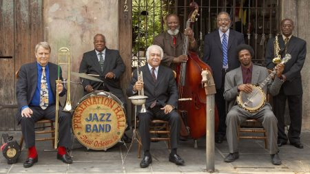 preservation hall jazz band, drum, pipe