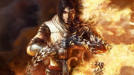 prince of persia, arm, fire