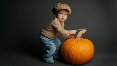 pumpkin, yellow, baby