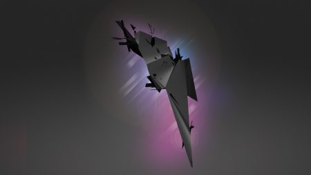 purple, gray, flying
