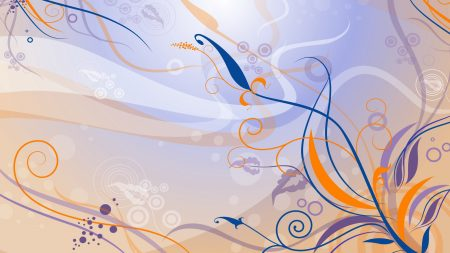 purple, orange, blue