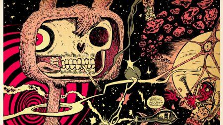 rabbit, skull, viscera