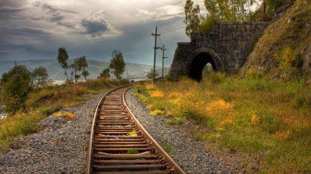 rails, railway, arch