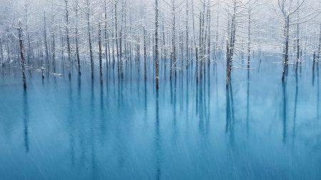 rain, blue water, flood