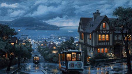 rain, bus, boat