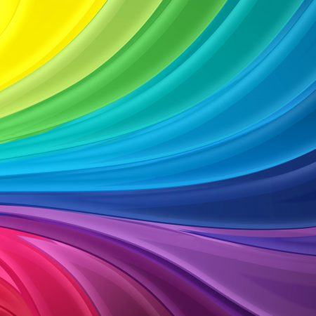 rainbow, line, light