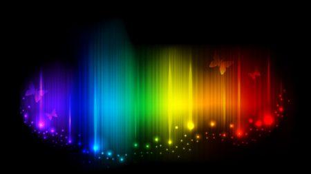 rainbow, lines, light