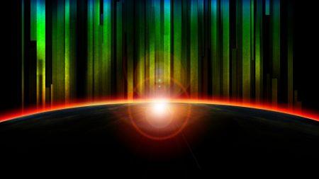 rainbow, rays, light