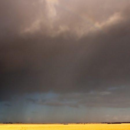 rainbow, sky, field