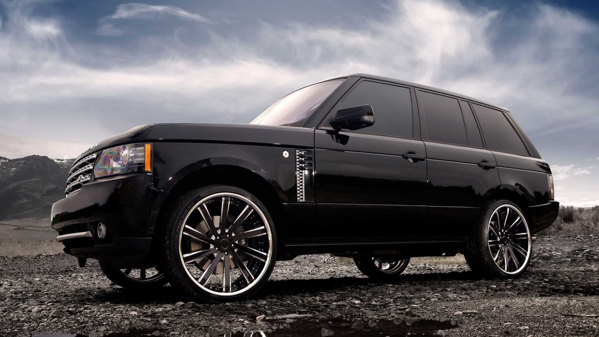 Download Wallpaper 1920x1080 Range Rover Land Rover Auto Wheels