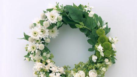 ranunkulyus, chrysanthemum, wreath