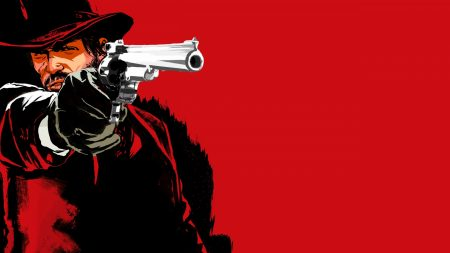 red dead redemption game, pistol, cowboy