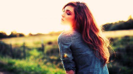 red hair, shirt, sunshine