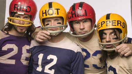 red hot chili peppers, helmet, numbers