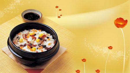 rice, soya sauce, poppies