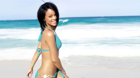 rihanna, beach, girl