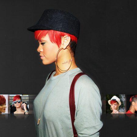 rihanna, cap, earring