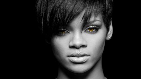 rihanna, girl, eyes