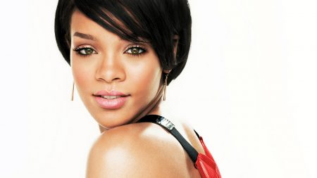 rihanna, haircut, face