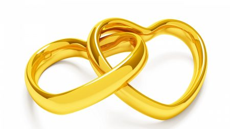 ring, heart, gold