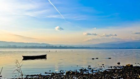 river, boat, landscape
