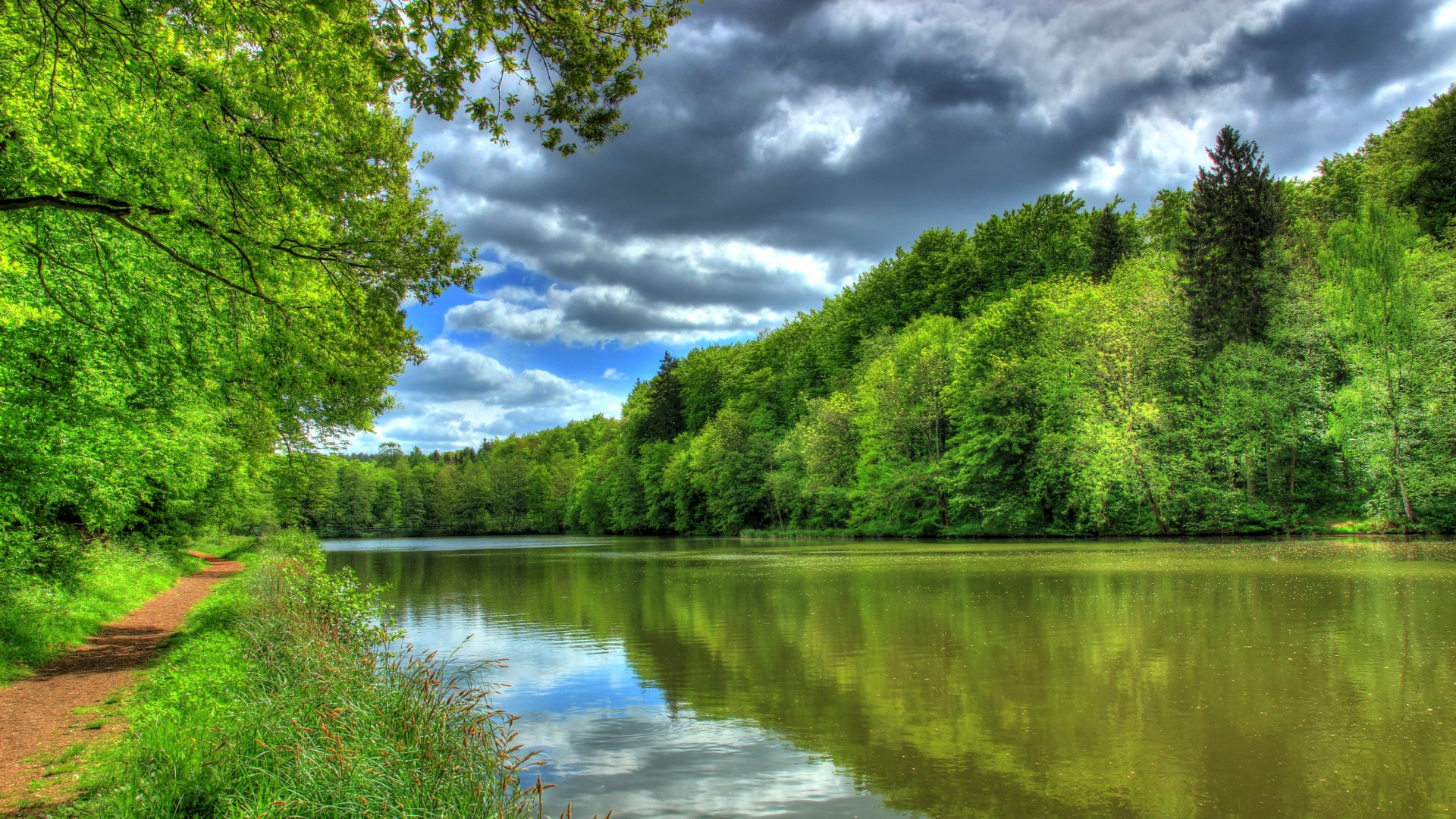 Summer Landscape Full Hd Wallpaper High Resolution: Download Wallpaper 1920x1080 River, Germany, Tropic