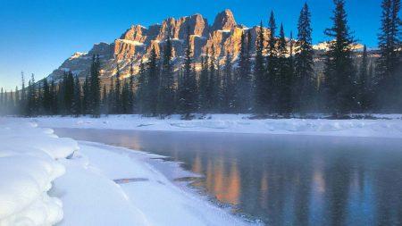 river, ice, coast